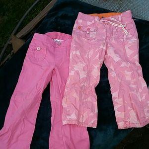 2 pair Girls pants